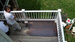 Applying Penofin on Ipe deck