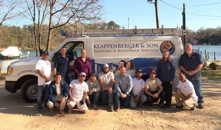 PG County painting and handyman group photo of Klappenberger & Son