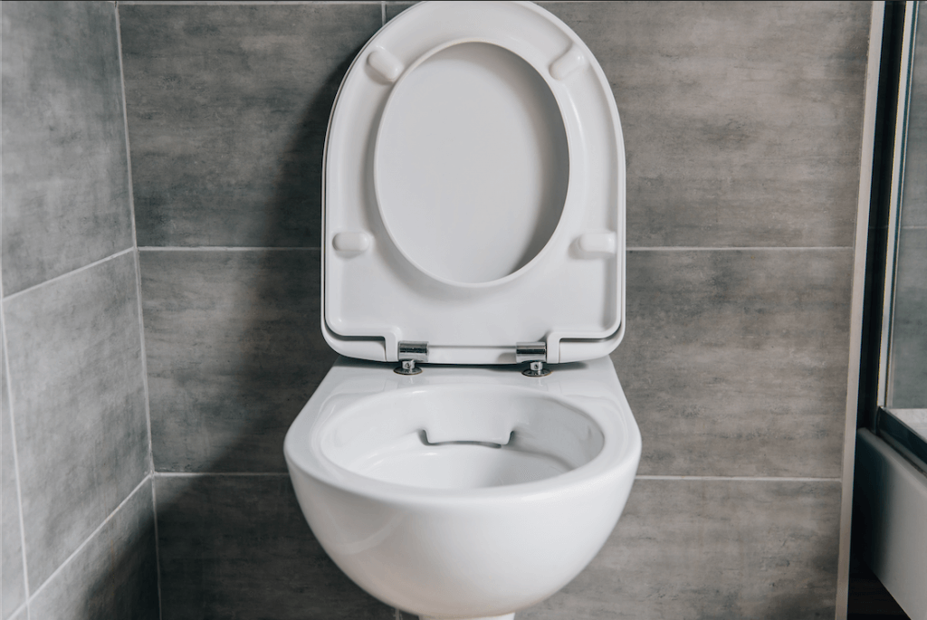 Toilet repair can be done even for mounted toilets like this one