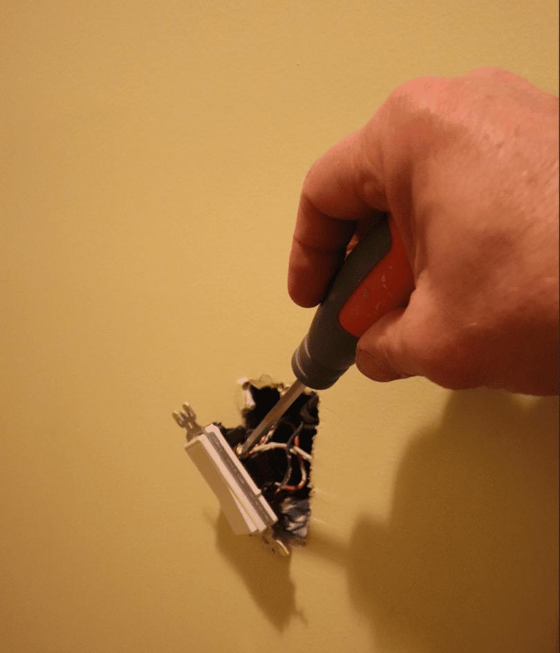 ceiling fan installation switch
