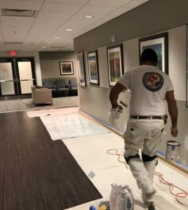 Painters in Anne Arundel County Painting Commercial Hallway