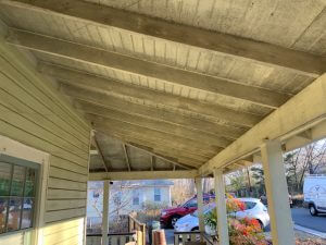 Mold on porch ceiling