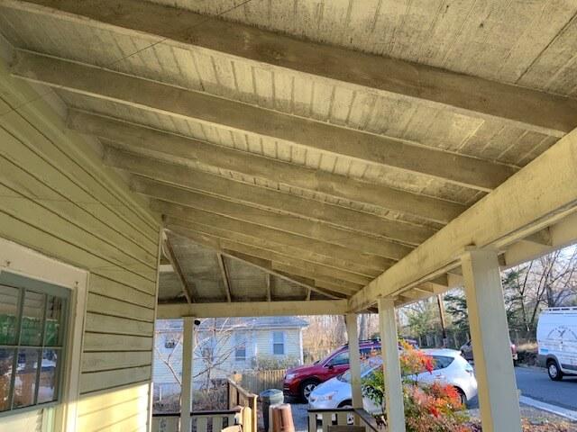 Mildew on porch ceiling