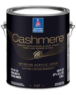 Cashmere flat paint can
