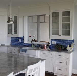 kitchen cabinets that we painted