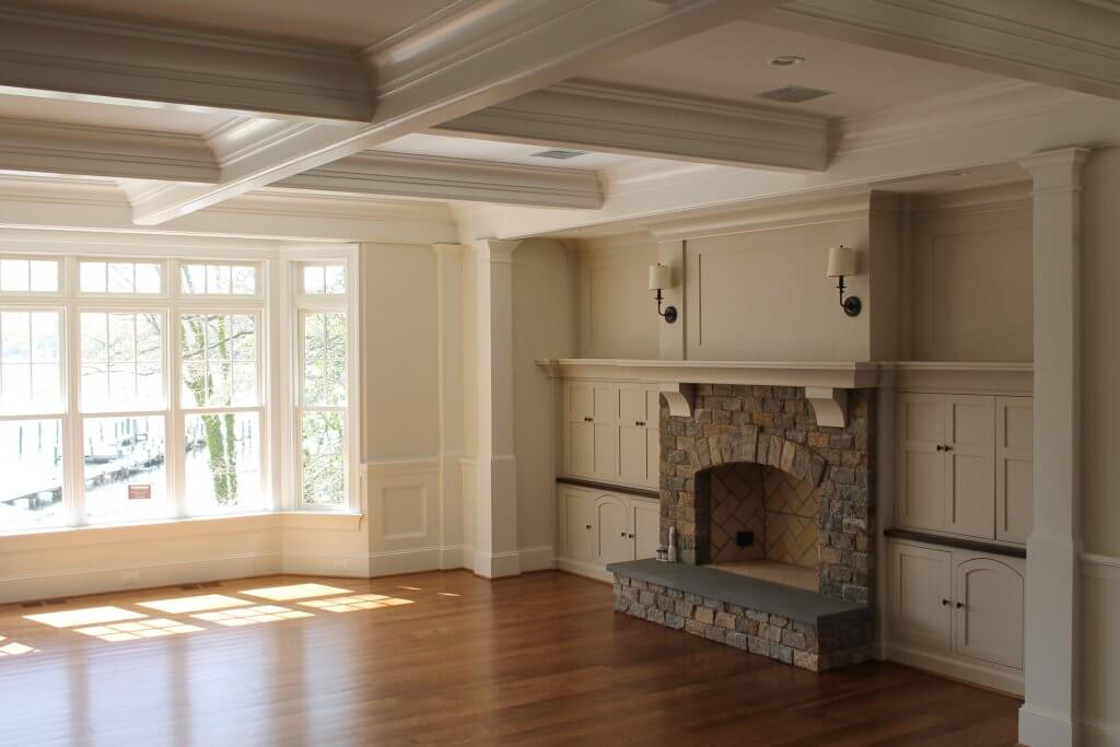 Interior Painting contractor Klappenberger & Son painted this amazing living room