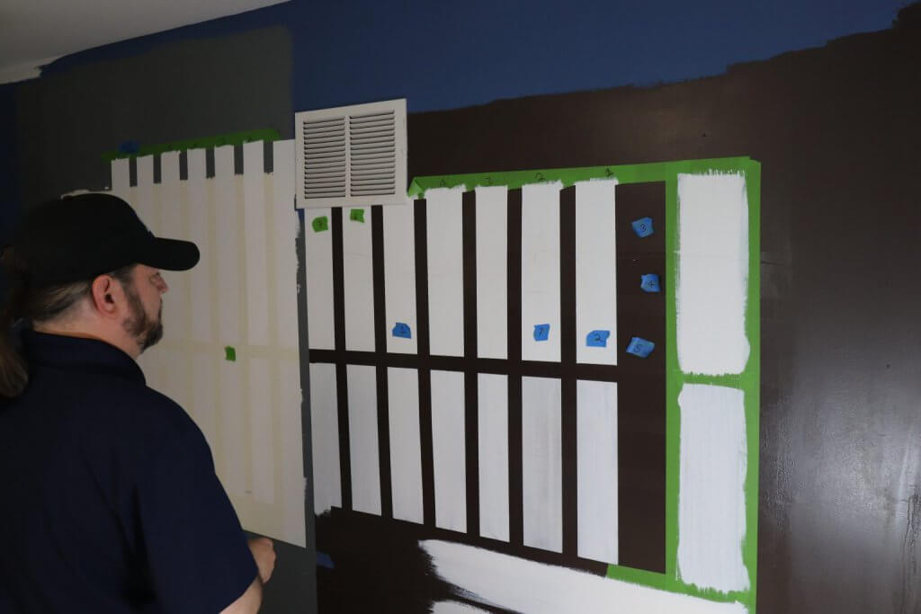 Coverage of Benjamin Moore Command Paint test