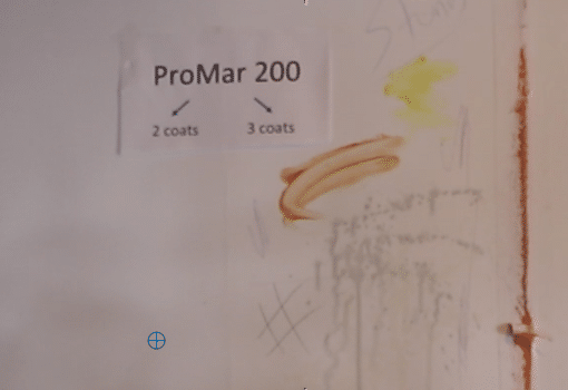 What Paint has the best washability test starts with applying stains on Promar 200