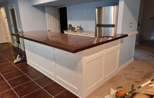 Basement remodeling bar by Klappenberger & Son