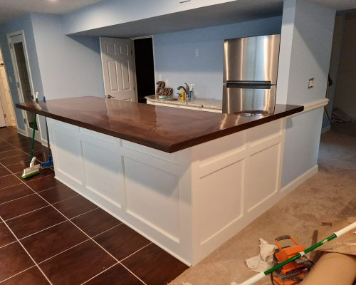 Klappenberger & Son built a custom bar for their customer