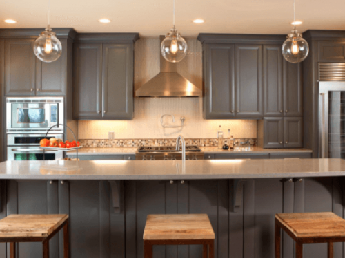 Kitchen Cabinets Painting in Montgomery CTY can have dark cabinets such as these that were painted on HGTV