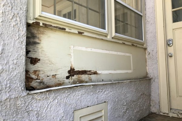 Rotten Wood replacement before