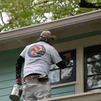 Exterior Painting Company in Bethesda painting the exterior of a home