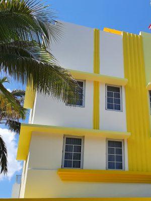 beautiful colored stucco building