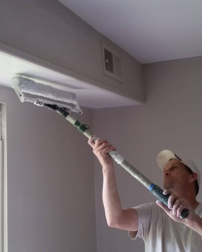 painting contractor in Fairfax painting ceiling