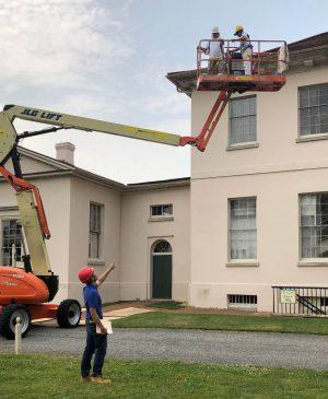 Historical Preservation of the exterior GlenDale Mansion