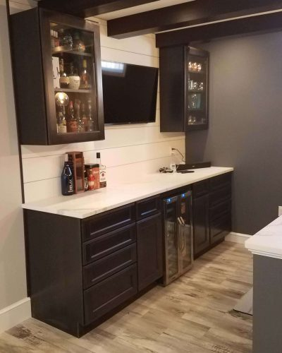 Basement remodel bar
