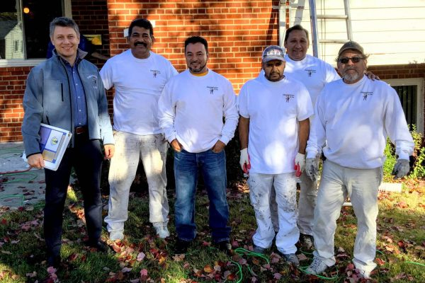 Klappenberger & Son Montgomery County owner and his crew painting and handyman contractor