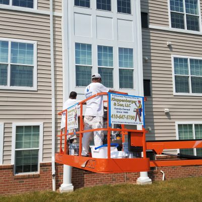 commercial painting company is painting condo's In Odenton MD