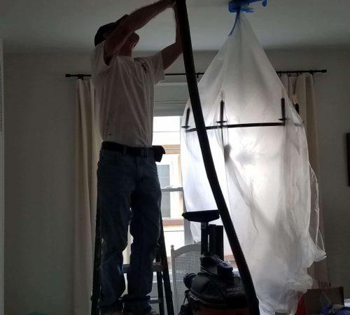 sanding with vacuum attachment