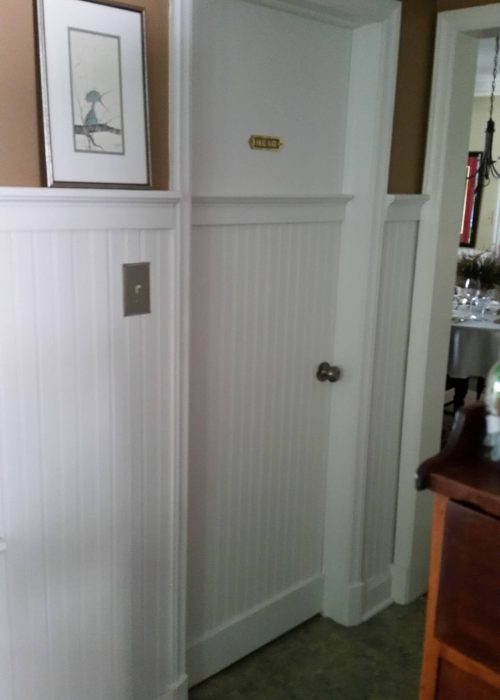 Door Installation to match the wanes cote on the wall
