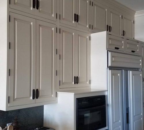 Klappenberger & Son painting kitchen cabinets